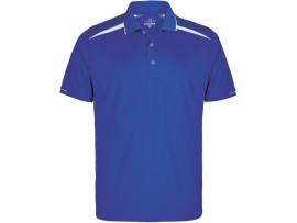 DRAKES PRIDE MENS ZONE POLO SHIRT - ELECTRIC / WHITE