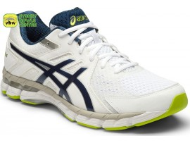 ASICS GEL-RINK SCORCHER 4 (4E) MENS BOWLS SHOES WHITE/POSIEDON/NEON LIME