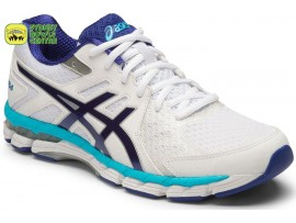 Asics Gel-Rink Scorcher 4 (D) Womens Bowls Shoes White/Asics Blue/Silver