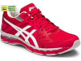 Asics Gel-Rink Scorcher 4 (D) Womens Bowls Shoes Carmine Red/White/Silver