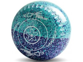 EDGE FACTOR COLOURED FIFTY/50 SPECKLED LAWN BOWLS