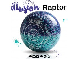 EDGE RAPTOR COLOURED FIFTY/50 SPECKLED LAWN BOWLS