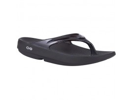 OOFOS OOLALA WOMEN'S LAWN BOWLS THONGS BLACK