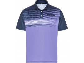 DRAKES PRIDE MEN'S ALPHA LAWN BOWLS POLO PURPLE/NAVY