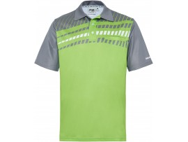 DRAKES PRIDE MEN'S ALPHA LAWN BOWLS POLO LIME/GREY
