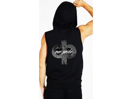 "DRAKES PRIDE ""OUR PRIDE"" UNISEX SLEEVELESS BLACK HOODIE"