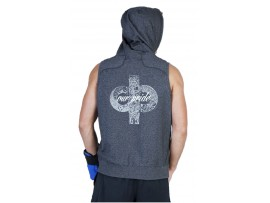 "Drakes Pride ""OUR PRIDE"" Unisex Sleeveless Navy Heather Lawn Bowls Hoodie"