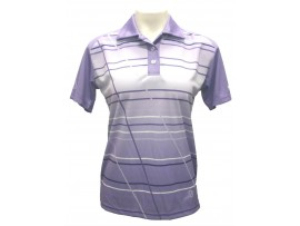 Kelsey Cottrell Horizon Purple Womens Sublimated Lawn Bowls Polo