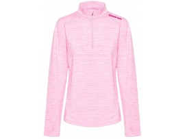 DRAKES PRIDE SPORTE LEISURE LADIES LACY MOCK PULLOVER ROSE MARLE