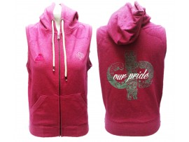 "Drakes Pride ""OUR PRIDE"" Sleeveless Hot Pink Lawn Bowls Hoodie"