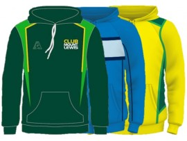 CUSTOM DESIGNED SUBLIMATED LAWN BOWLS HOODIES - MENS & WOMENS