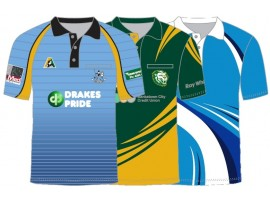 CUSTOM DESIGNED SUBLIMATED LAWN BOWLS POLO SHIRT - MENS & WOMENS
