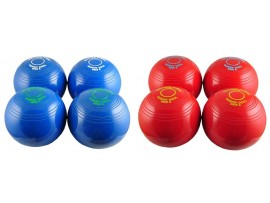 DRAKES PRIDE INDOOR CARPET BOWLS - 8 BOWLS COLOURED